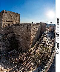 Jaffa Gate in holy Jerusalem