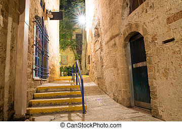 Jaffa old city - stone old city Jaffa in Tel Aviv