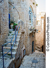 Jaffa old city - old stone city Jaffa in Tel Aviv