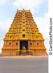 Jaffna Nallur Kandaswamy Temple Gopuram Front - Centered...