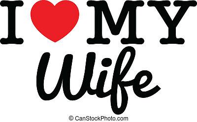jag, kärlek, min, fru