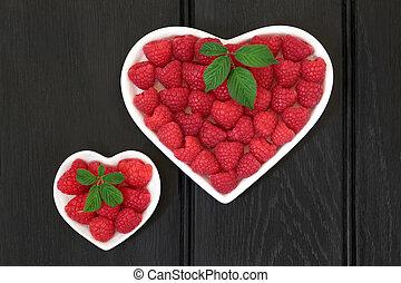 jag, kärlek, raspeberries