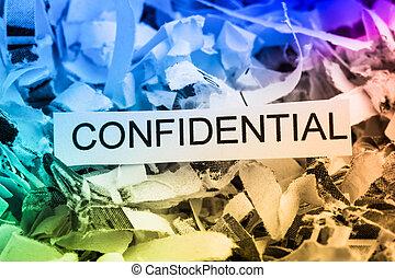 jag shredded tidning, konfidentiell