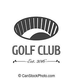 jaga, vektor, golfklubb, logo