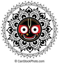 jagannath., θεός , ινδός , universe.