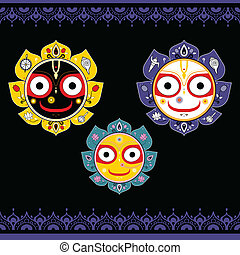 jagannath., bóg, indianin, universe.