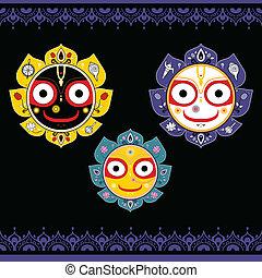 jagannath., dieu, indien, universe.