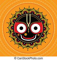jagannath., dio, indiano, universe.