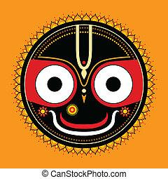 jagannath., gott, indische , universe.