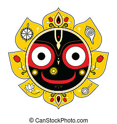 Jagannath. Indian God of the Universe. Lord Jagannatha.