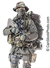 Jagdkommando soldier Austrian special forces equipped with...