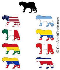 jaguar, banderas