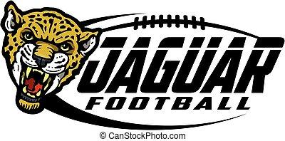 jaguar football team design with mascot for school, college...