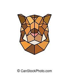 Jaguar head logo template for business.