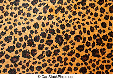 Jaguar hide - Wild African animal hide pattern brown jaguar...