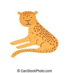 Jaguar Stylized Childish Drawing