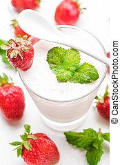 jahoda, jogurt