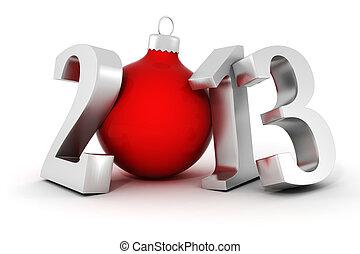 !, jahr, neu , glücklich, 2013, 3d