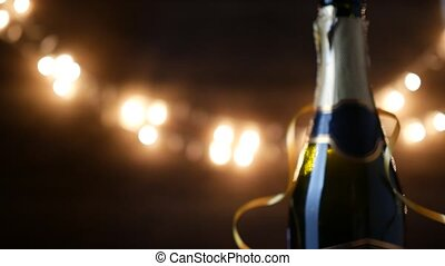 jahres, neu , champagner, toast.