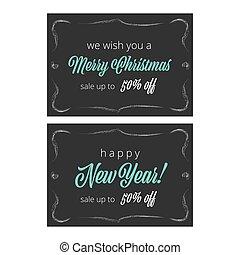 jahrgangsvignette, jahr, neu , banner, weihnachten