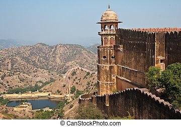 jaigarh, fort, i, przedimek określony przed rzeczownikami, otoczenie