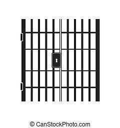 jail bars key hole vector graphic icon - jail bars key hole...