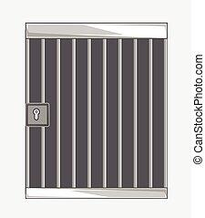 Jail Bars Vector Illustration Background