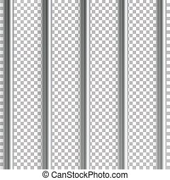 Jail Bars Vector Illustration. Isolated On Transparent...