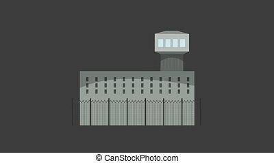 Jail Building Cartoon