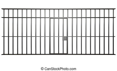 Jail Cell Bars - A front view of the bars of a jail cell...