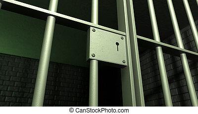 Jail Cell Door Locked