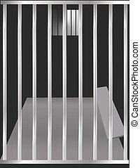 Jail Cell - Prison cell illustration.