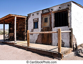 old jailhouse from the days of the wild west