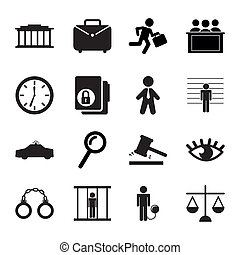 jail icons over white background. vector illustration