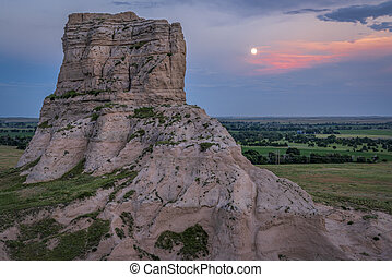 Jail Rock with full moon