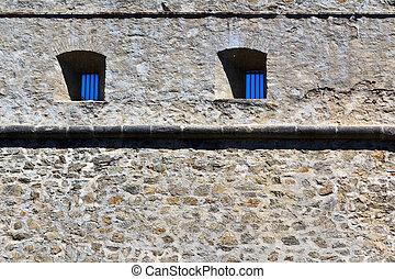 Jail wall
