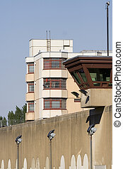 jail watch tower - Watch tower on wall, jail in Background....