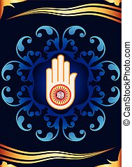Jain Emblem Design Vector Art