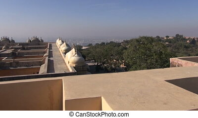 Nahargarh fort in Rajasthan, India - Jaipur red city...