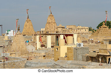 Jaisalmer - city view of Jaisalmer, a town in India
