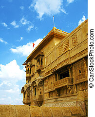 "Jaisalmer, the magnificent ""Golden City"" in the heart of Rajasthan (India), surrounded by the desert of Thar."