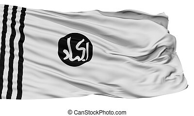 jaishi, e, drapeau, mohammed, isolé, blanc