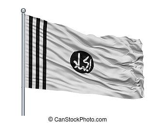 jaishi, e, mohammed, isolé, drapeau, mât, blanc