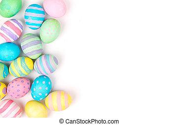 jaja, wielkanoc, białe tło