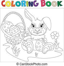jajko, ozdobny, transport, wielkanocny królik