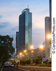 Jakarta Central at beautiful sunset. Indonesia