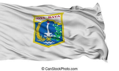 Jakarta City Isolated Waving Flag - Jakarta Capital City...