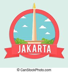 jakarta tour and travel illustration design