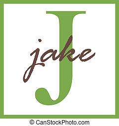 Jake Name Monogram - Name Monogram
