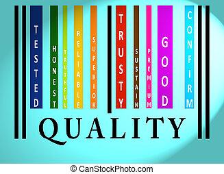 jakość, barcode, słowo, barwny